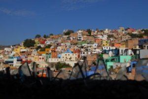 Foto con case tutte colorate