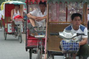 Foto di cinesi in bicicletta