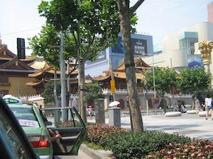 Foto strada di Shanghai