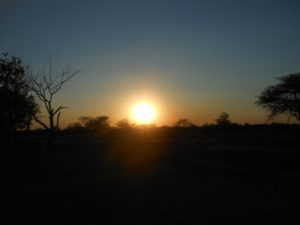 Foto tramonto in Sudafrica