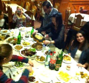 Cena di classe al ristorante con il TPST