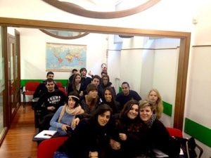 Foto di classe del TPST secondo anno