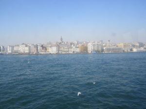 vista di Istanbul dal mare