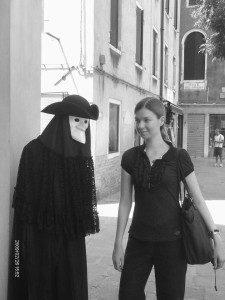 foto con maschera Venezia