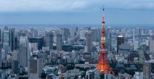 vista città Tokyo