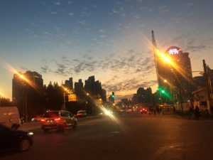 tramonto a Shanghai