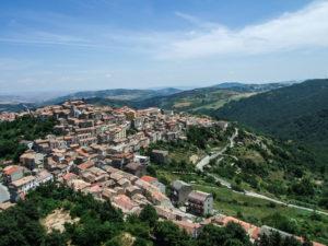 Vista di Pietragalla dall'alto