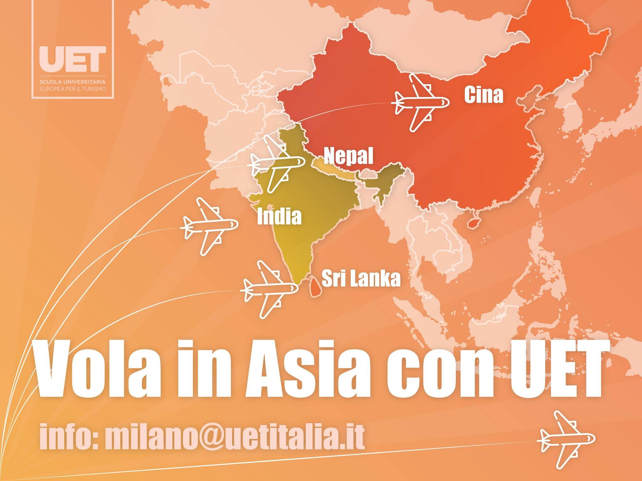 Vola in Asia con UET - Dote Merito 2018