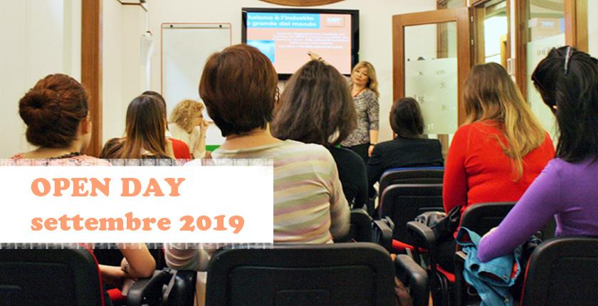 Open Day UET ROMA 11 settembre 2019