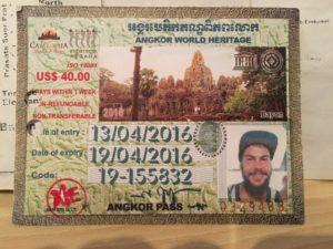 Foto Angkor Pass Cambogia