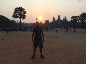 Foto di Giulio in Cambogia