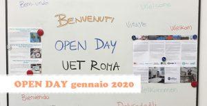 Open Day UET ROMA gennaio 2020