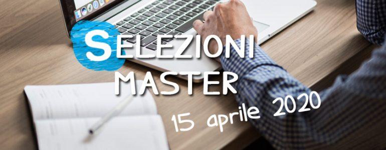 Selezioni Master UET - 15 aprile 2020