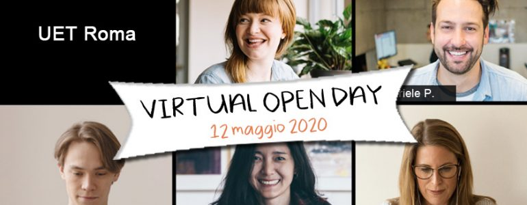 Virtual Open Day UET Roma - 12 maggio 2020
