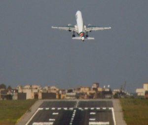 Foto arrivo a Reggio dal cielo