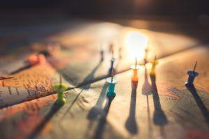 Foto con la mappa del mondo