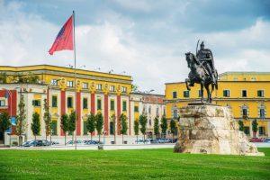 Foto della Piazza Skanderberg
