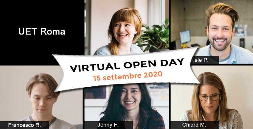 Virtual Open Day UET Roma 15 settembre 2020