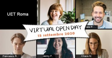 Virtual Open Day UET Roma - 15 settembre 2020