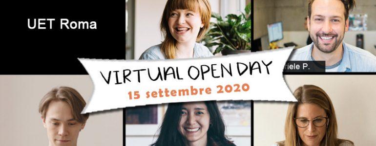 Virtual Open Day UET Roma - 15 settembre 2020