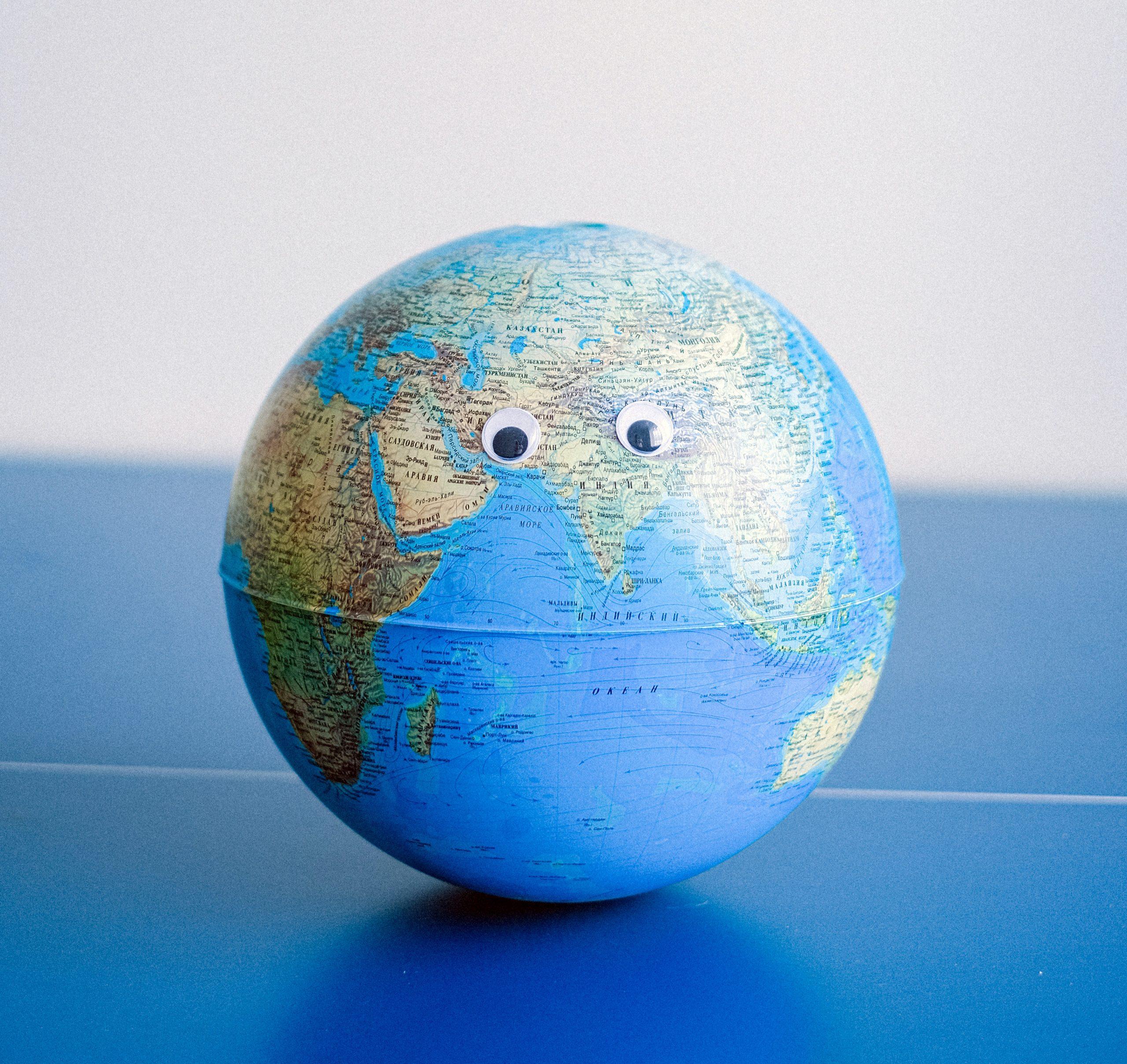Foto del mondo che sorride